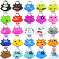 Hot new kid infantil del bebé de silicona lavable feeding bib cute cartoon patrones babero