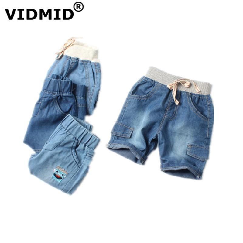 VIDMID children's Baby boys   shorts   jeans summer casual ultra thin   shorts   kids denim   shorts   for boys clothes boy clothing 7080 01