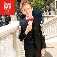 Мяо Yi высокого качества новые детские комплекты одежды для отдыха костюм с жилетом для маленьких мальчиков праздничная одежда джентльмена