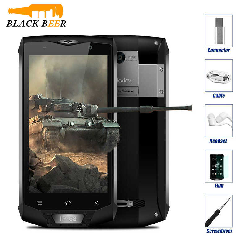 Blackview BV8000 Pro IP68 Waterproof Cellphone MTK6757V Octa Core Android 7.0 Mobile Phone 5.0