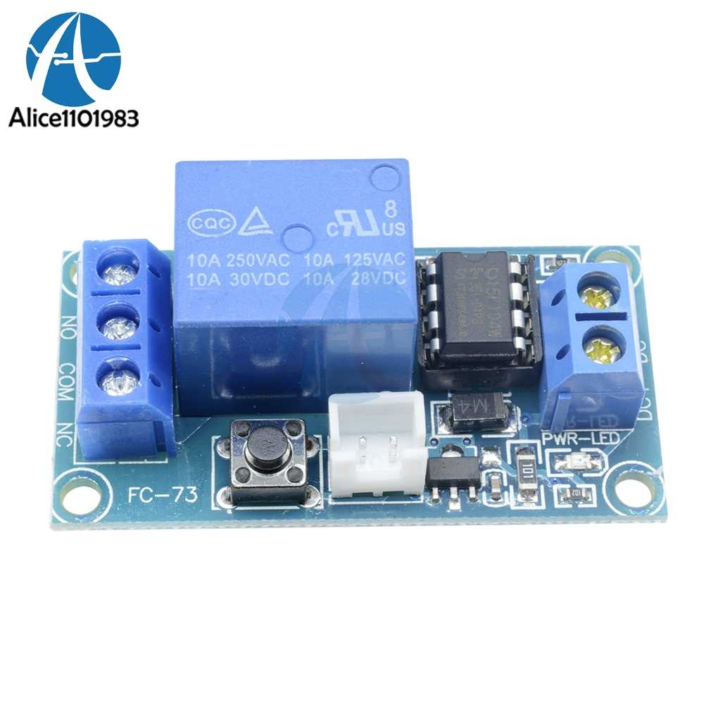 24V 1 Channel Latching Relay Module with Touch Bistable Switch MCU Control