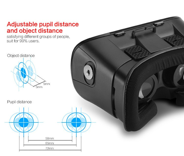 2016 New VR Self-Model Polarized Google Oculus Rift Cardboard Virtual Reality DK2 Gear 3D Glasses for 4.0-6.0 inch Smartphone (4)