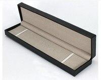 29.5X7X4 cm hộp da Pu hình chữ nhật hộp đồng hồ Chỗ bán buôn quà da vòng cổ trang sức bao bì hộp