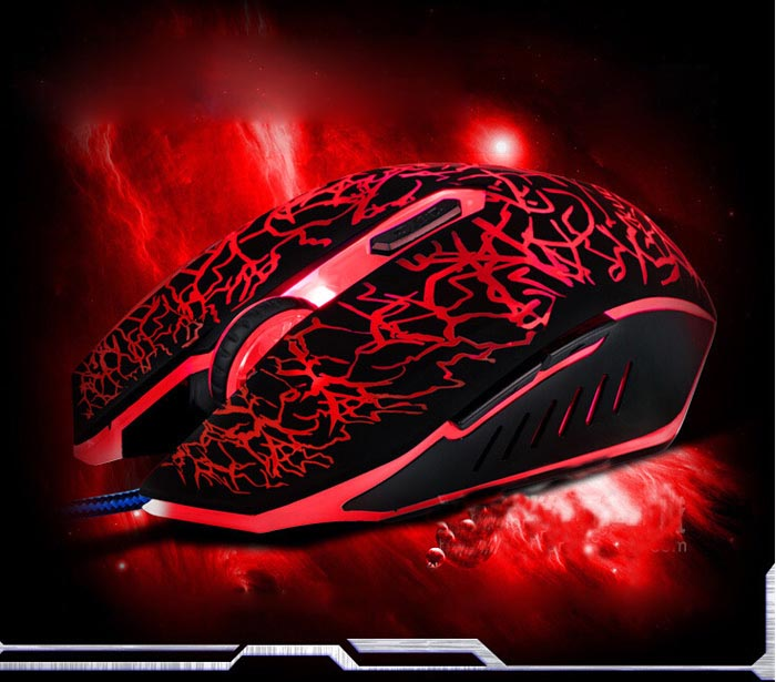Hot New Promotion Small Special Shaped 6 Buttons USB Wired Luminous Gamer Computer Gaming Mouse In Stock #N