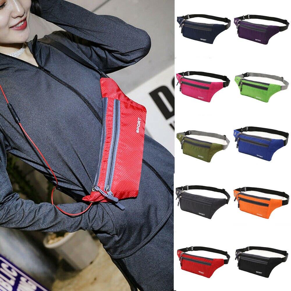 Unisex Waist Pack Belt Bag Travel Running Sport Fanny Pack Bumbag Phone Pouch