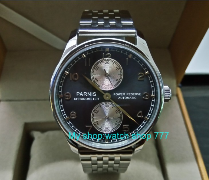 43mm PARNIS power reserve Automatic Self-Wind Mechanical movement mens watch 316 Stainless steel with Butterfly buckle zdgd11a43mm PARNIS power reserve Automatic Self-Wind Mechanical movement mens watch 316 Stainless steel with Butterfly buckle zdgd11a
