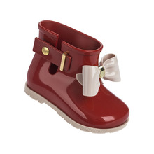 Mini Melissa Bow Rain Boots 2017 Melissa Jelly Boots Water Shoes Children Cute Bow Princess Child Boots High Quality EUR 24-29
