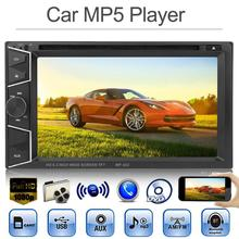 Universal Car Multimedia Player 6.2in TFT Screen Hands Free Calling Bluetooth In-dash Car Stereo MP5 AUX FM Radio DVD Player