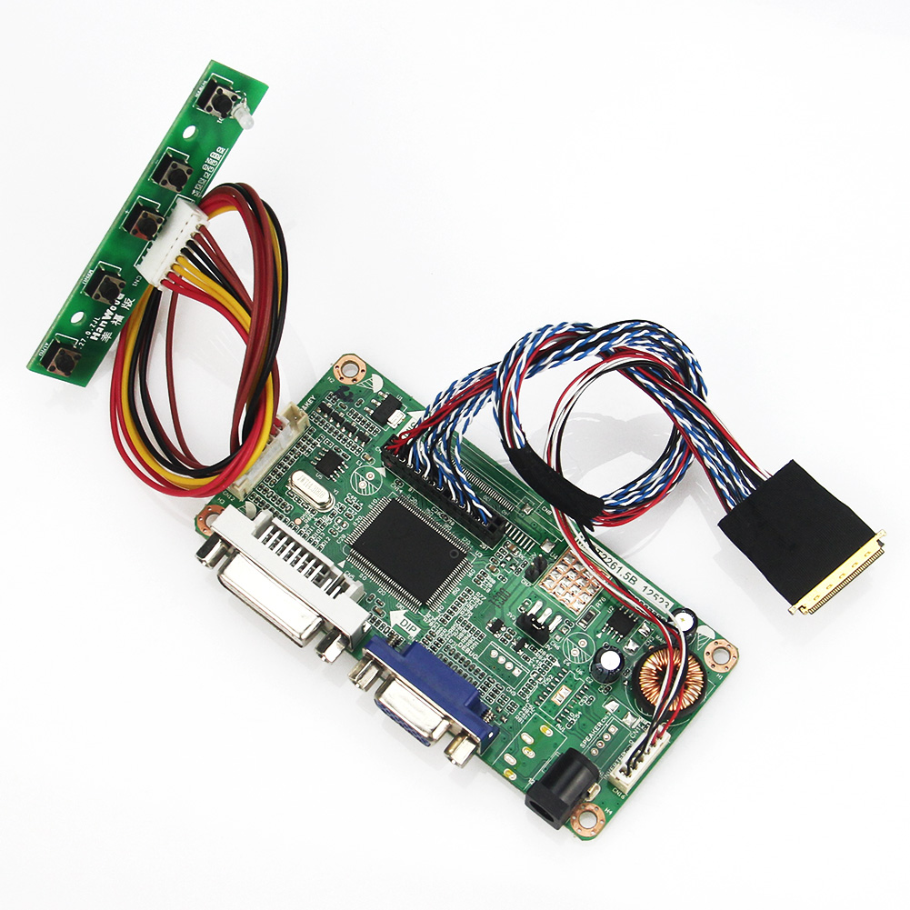 (VGA+DVI) M.R2261 M.RT2281 LCD/LED Controller Driver Board For LP156WH2(TL)(EA) B156XW04 V.0  LVDS Monitor Reuse Laptop 1366x768