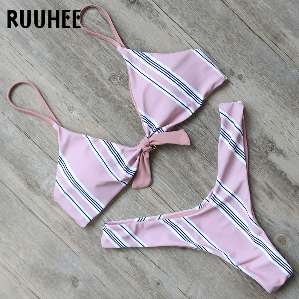 RUUHEE Bikini Swimwear Women Swimsuit Brazilian Bikini Set High Cut Bathing Suit 2018 Bow-Knot Beachwear Women's Swimming Suit ruuhee bikini swimwear women swimsuit brazilian bikini set high cut bathing suit 2018 bow knot beachwear women s swimming suit