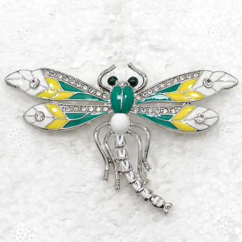 12pcs lot Wholesale Fashion Brooch Rhinestone Enamel Dragonfly Pin brooches  costume jewelry gift C101570-in Brooches from Jewelry   Accessories on ... c2300a1ab030