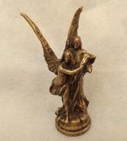 Collectable brass sculpture Palm statue goddess Cupid wedding gift