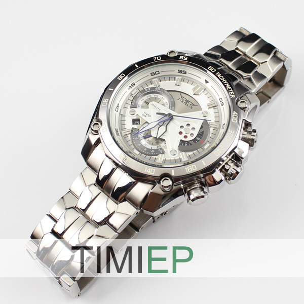 ФОТО High Quality Men's Stainless Steel Watches 100M Waterproof 300FT Diving quartz Watch freeship
