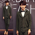 jacket+vest+pant free shipping latest coat pant designs 2016 new Korean British style slim fit long 3-piece suits costume homme