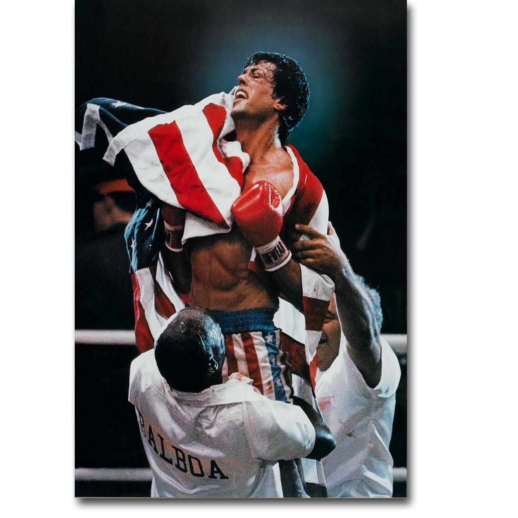 ③Rocky Balboa Boxeo arte seda cartel imprimir 13x20 24x36 pulgadas ...
