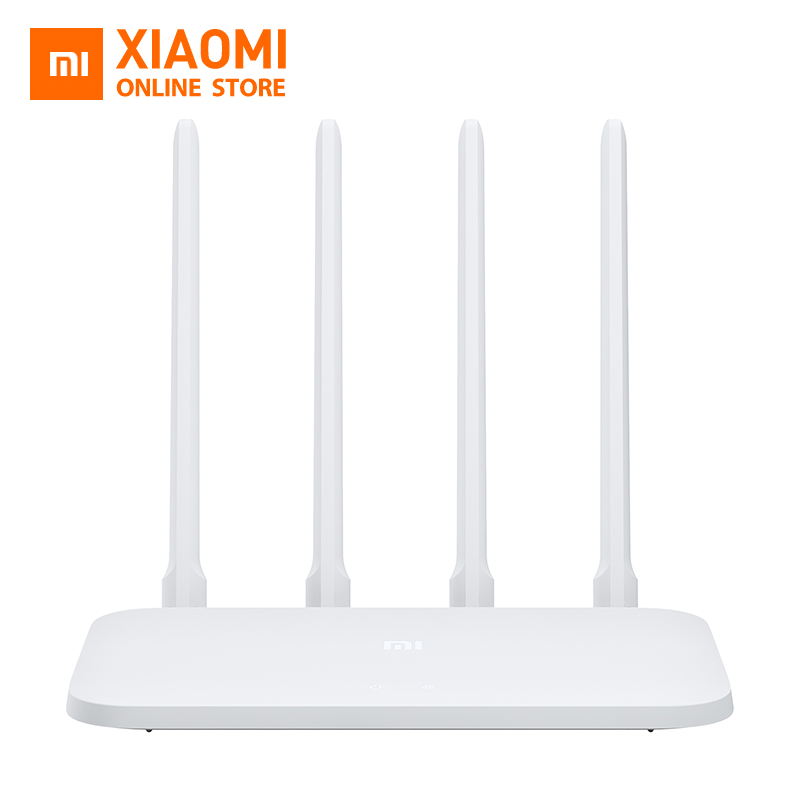 Original Xiaomi Mi WIFI Router 4C 64 RAM 802.11 b/g/n 2.4G 300Mbps 4 Antennas Smart APP Control Band Wireless Routers Repeater xiaomi mi 8 aliexpress