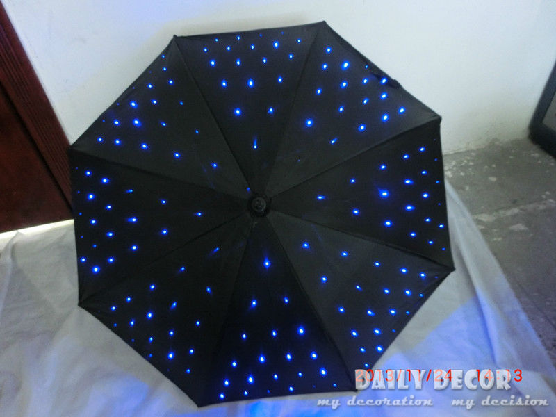 High-Q LED light uv umbrella with flashlight function luminous decorative umbrella for photography or stage performance decor