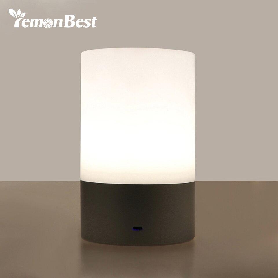 Chevet salle de lecture hall salon salon avec blanc de table de plumes - Lemonbest Rgb Led De Chevet Nuit Lumi Re Atmosph Re Lampe Tactile Capteur Rechargeable Lampe De Table 3