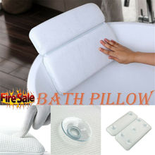 Bath Pillow Non-slip Bathtub Headrest Soft Home Spa Inflatable Bath Pillow With Suction Comfort Cushion Head Neck Rest Relax