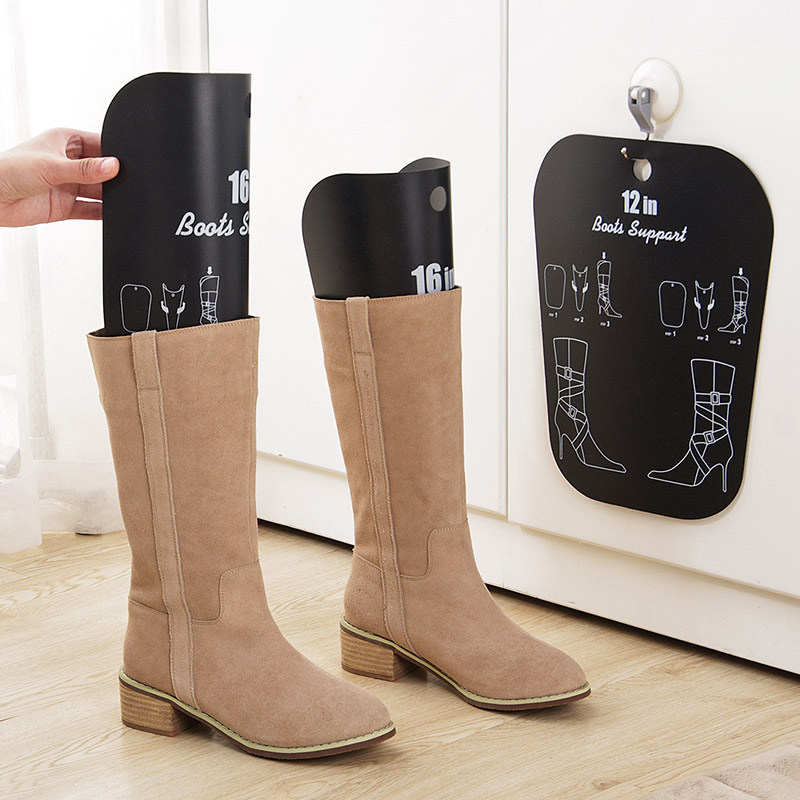 High Quality 1 Pair Black Boot Stand Holder Women Knee High Boot Inserts Plastic  Supporter Storage Closet Shoe Organizer Rack In Storage Holders U0026 Racks  From Home ...