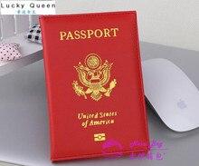 American national emblem gedruckt passinhabers PU litschi korn pässe tickets passinhabers passdecke