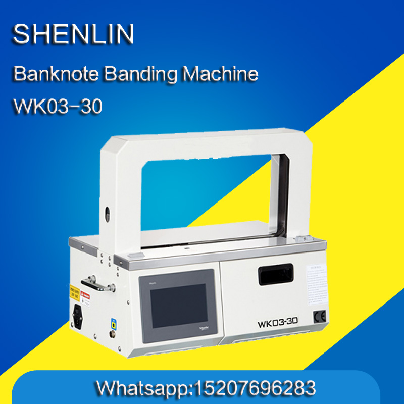 SHENLIN Semi-automatic Banknote Banding Machine OPP Strapping Machine, New Version OPP Bander Strapping Machine WK02-30