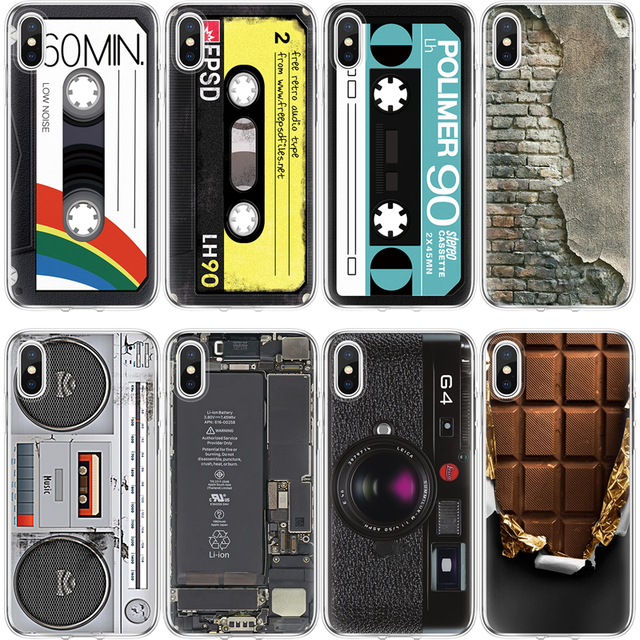 018a96f0c92 CD Camera Radio Cover For iPhone Xs Max XR 7plus TPU Case For iPhone 4 4S 5  5S SE 5C Coque For iPhone X 6 6s S 7 8 Plus 3D Funda