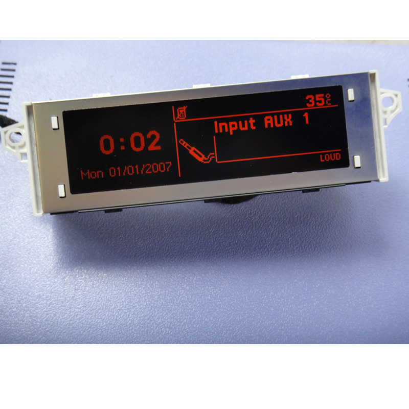 High quality original Red screen support USB and Bluetooth Display red monitor for Peugeot 307 407