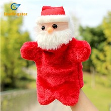 LeadingStar Christmas Creative Plush Toys Santa Claus Doll Gloves Hand Puppet Toy as Perfect Festival Gift zk15