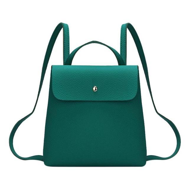 Fashion Women Backpack High Quality PU Leather Backpacks for Teenage Girls Female School Shoulder Bag