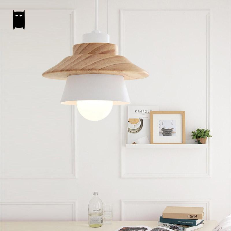 Black White Oak Wood Iron Shade Fruit Pendant Light Fixture Cord Nordic Korean Japanese Hanging Ceiling Lamp Dining Table Room vintage loft japanese style diamond 35 45cm pendant light oak wood iron shade retro lamp e27 110 220v cord hanging light fixture