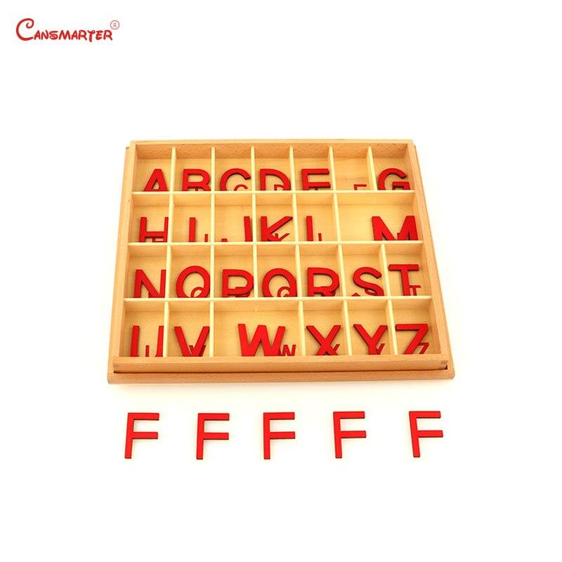 Montessori langue jouets exercice grand Alphabet mobile Capital boîte préscolaire enseignement enfants jouet éducatif hêtre bois LA024-Q3