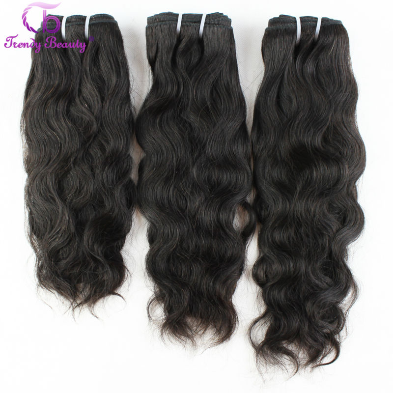 Brazilian Natural Wave Hair 100% Human Hair Extensions 3 Pcs Lot 8-30 Inches Brazilian Hair Weave Bundles Non-Remy Trendy Beauty