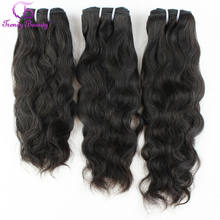 Brazilian Natural Wave Hair 100% Human Hair Extensions 3 pcs Lot 8-30 Inches Brazilian Hair Weave Bundles Non-Remy Trendy Beauty(China)