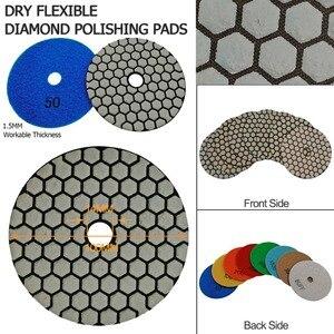 Image 5 - SHDIATOOL 10sets (7pcs/set) Dia100mm/4inches Dry Diamond Polishing Pads 70pcs Resin Bond Diamond Flexible Sanding Disk