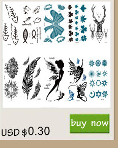 Rocooart RC2239 Body Art Water Transfer Fake Tattoo Sticker Temporary Tattoo Sticker Blue Black Wind Blown Feathers Taty Tatoo 13