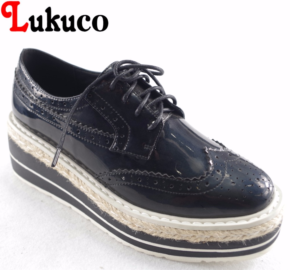 Lukuco mixed color round toe women concose flats platform microfiber made carved decoration lace-up shoes with pigskin inside lukuco pure color women mid calf motorcycle boots microfiber made buckle and zip design shoe with pigskin inside