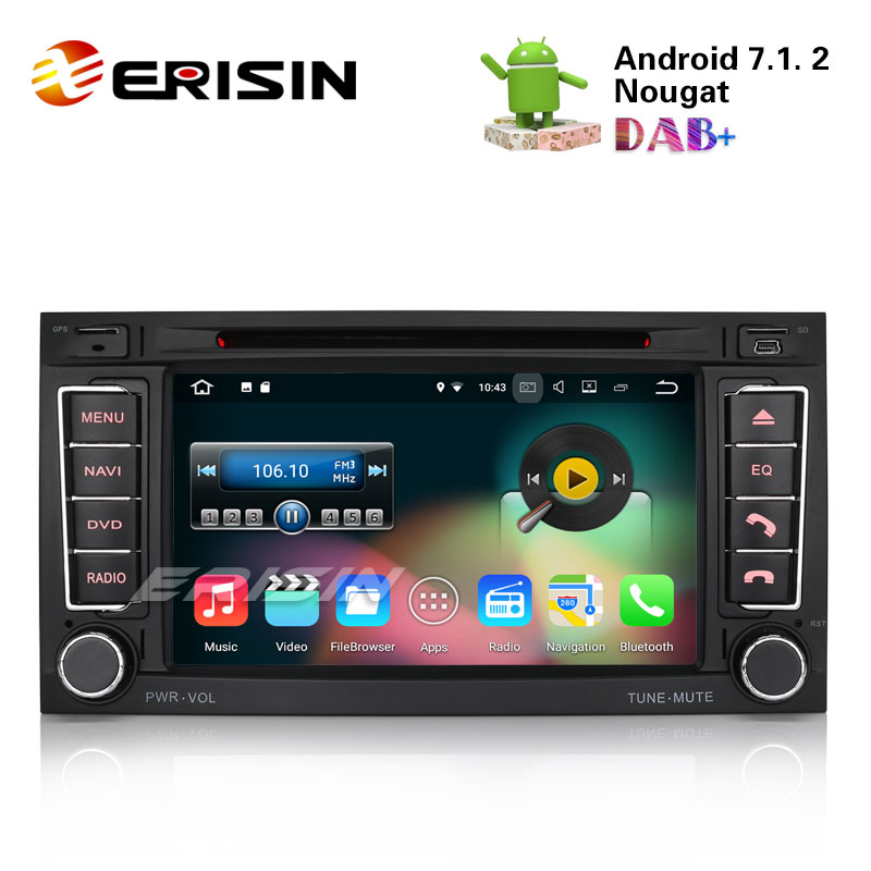 erisin es4772t 7 android 7 1 car dvd cd player 3g wifi fm. Black Bedroom Furniture Sets. Home Design Ideas