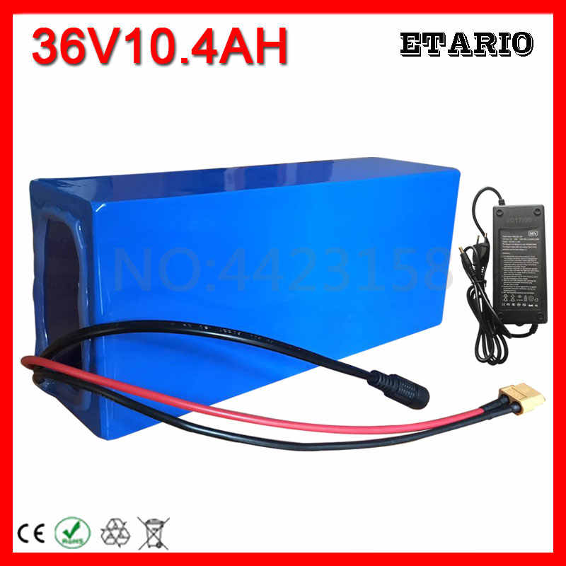 36V 10AH Electric Bike Battery 36V 10AH Lithium Battery 36 Volt Ebike Battery with 15A BMS 42V 2A Charger Free Customs Tax