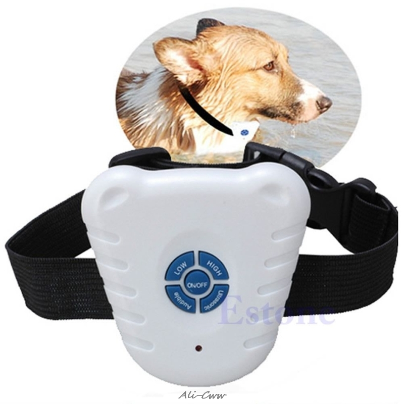 Waterproof Dog Stop Barking Anti Barking Repeller Control Trainer Training Device Button Clicker Ultrasonic Dog Anti