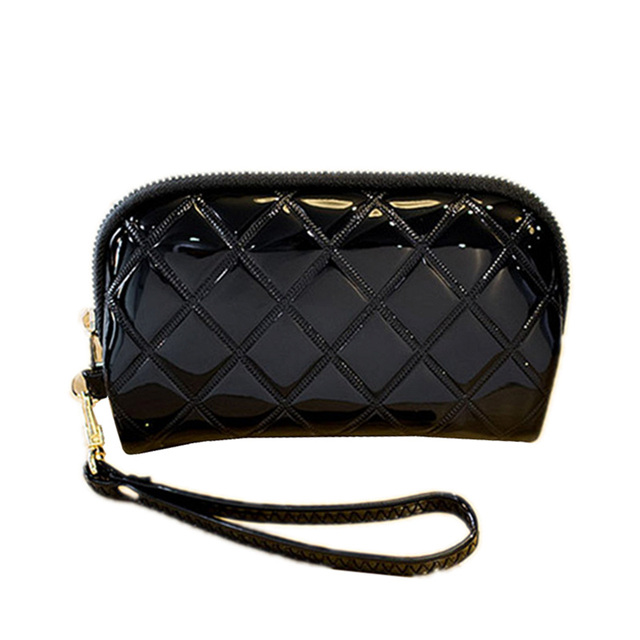 2eaf4a7d6cd US $13.9 |Wallets Plaid Women Wallet Ladies Patent Leather Clutch Change  Coin Purse Card Holder Cute Puppy Zipper Long Wallet vv002-in Wallets from  ...