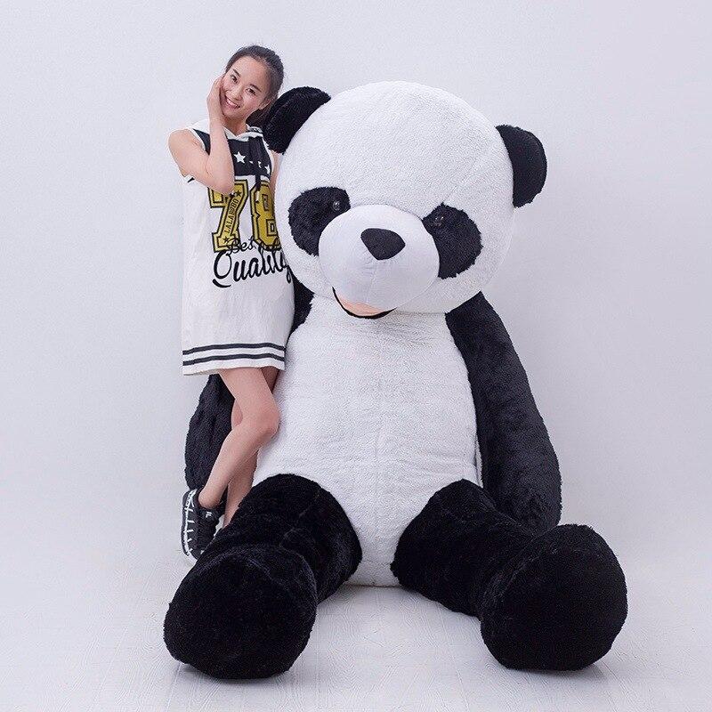 3 м Gig гигантская Милая панда плюшевые игрушки Белый Черный чучела животных детей подарок на день рождения для девушки