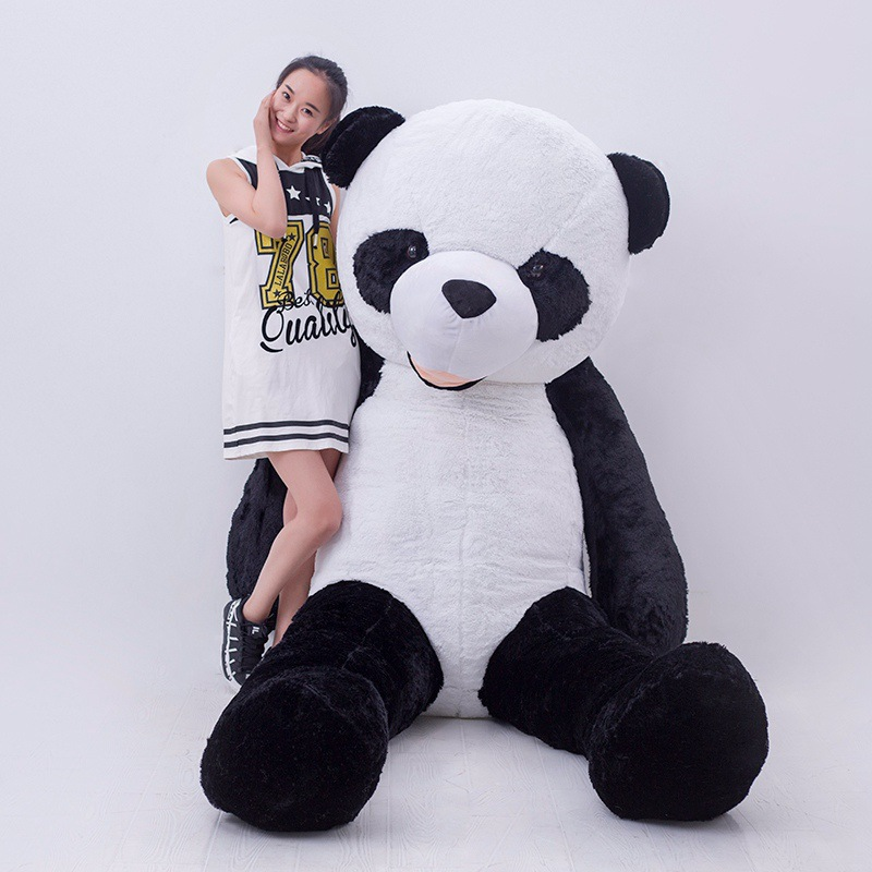 3m Gig giant Lovely Panda Plush Toy  White Black Stuffed Animal Children Birthday Gift for girlfriend stuffed animal 44 cm plush standing cow toy simulation dairy cattle doll great gift w501