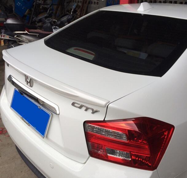 Apprêt ABS couleur non peinte berline aile coffre arrière lèvre de voiture Spoiler pour ville 2009 2010 2011 2012 2013 2014 09 10 11 13 14