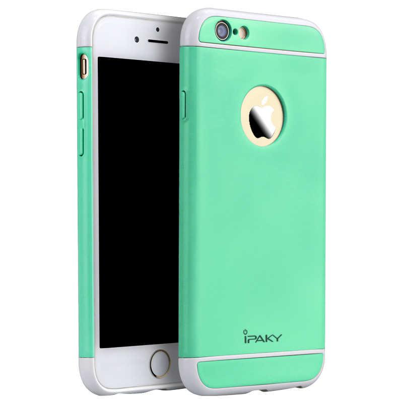 สำหรับiPhone 6 6วินาทีกรณีเดิมiPakyแบรนด์ใหม่F Undas carcasasกลวงที่มีสีสันกลับฮาร์ดกรณีเกราะสำหรับiPhone 6 6วินาทีกรณีปก