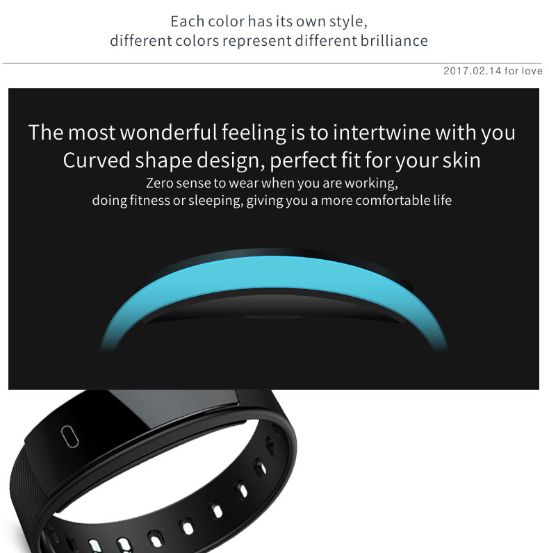 Smart watches  brand bracelet wristband bluetooth heart rate message reminder Sleep Monitoring purple a 3