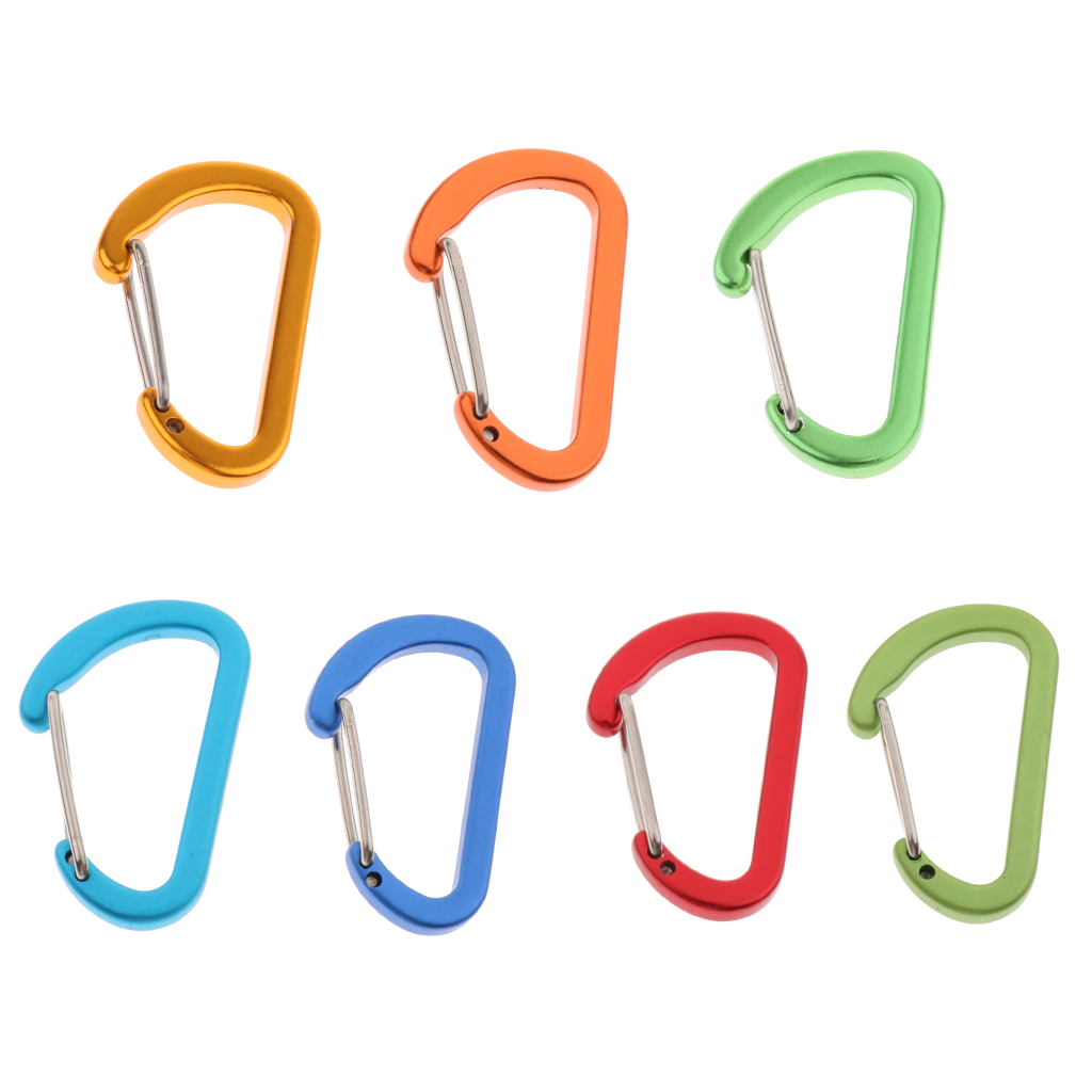 Mini Aluminum Alloy Carabiner Outdoor D Shape Quickdraw Frosted Green Climbing Accessories For Hiking Mountaineering Backpack