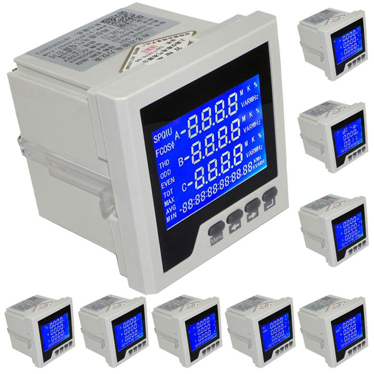 YG194E-9SY 3P Three-phase Multifunction LCD Digital Volt Amp Power Meter Energy Accumulation RS-485 Network Table tester monitor free shipping sdm630 modbus rs485 din rail kwh three phase energy meter 100a solar pv energy meter rtu digital meter