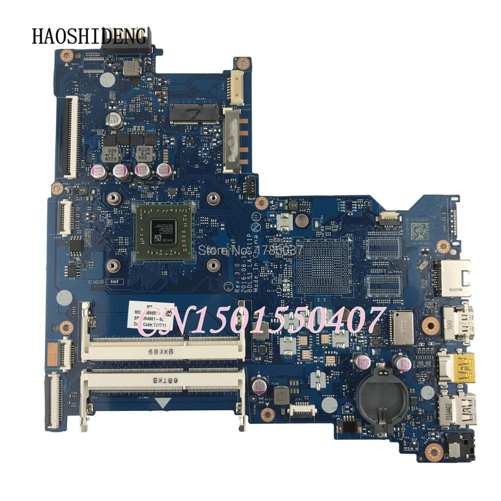цена на HAOSHIDENG 854961-601 854961-501 LA-D711P for HP Notebook 15-BA 15-AY Series laptop motherboard 854961-001 fully Tested !