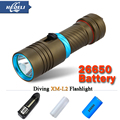 xm-l2 100M Diver Flashlight LED cree L2 Torch constant current 5000lm 18650 OR 26650 Underwater Diving Light Lamp rechargeable